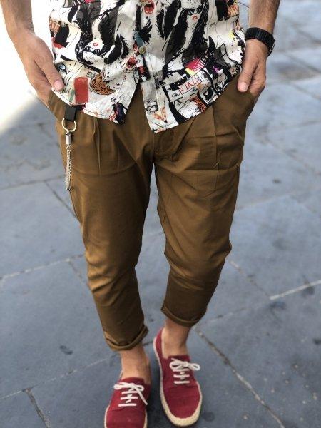 Pantaloni uomo alla caviglia - Slim - Gogolfun.it