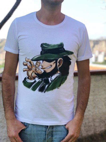 Tshirt - Dipinta a mano - Jigen - Gogolfun.it