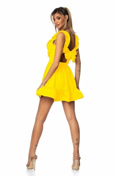 Vestito corto, estivo - Giallo - Vestito corto giallo - Vestiti corti - Gogolfun.it