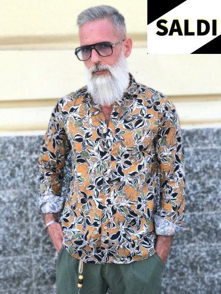 Camicia uomo fantasia - Floreale - Manica lunga