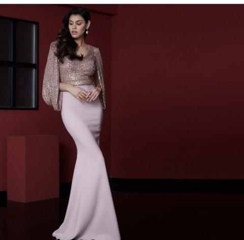 Cerimonia - Vestiti rosa eleganti - Vestiti lunghi - Gogolfun.it