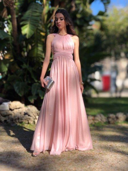 Vestito lungo elegante - Vestiti donna - Online - Gogolfun.it