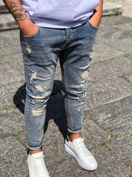 Jeans uomo - Strappati - Slim fit