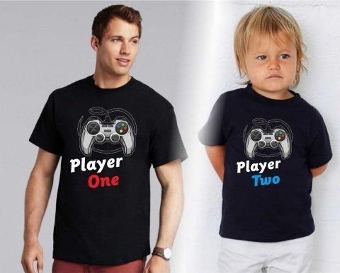 T shirt - Nere - Papà e bimbo - Player - Gogolfun.it