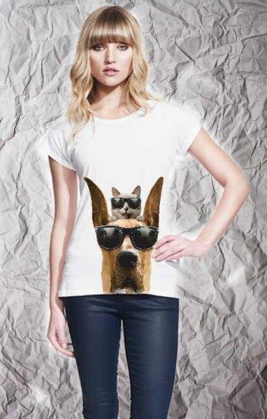 T-shirt  divertente - Cane & gatto - Negozio abbigliamento Reggio Calabria Gogolfun.it