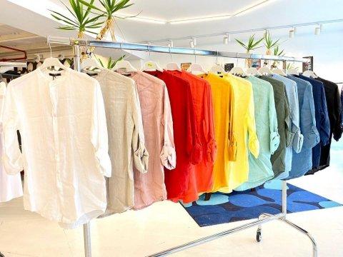 Camicia coreana verde tiffany, gialla, bianca, azzurra - Camicie uomo gogolfun.it