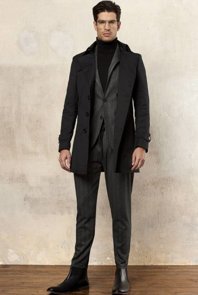 Cappotto uomo, nero - Gogolfun.it