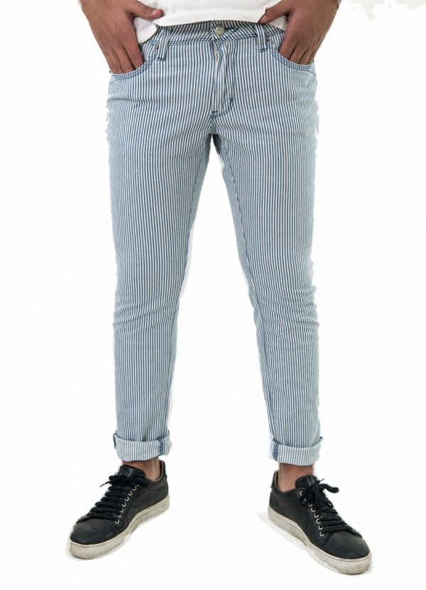 Pantalone a righe - jeans a righe - Gogolfun.it