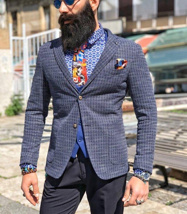 Giacca uomo blu - Giacche uomo - Giacca online - Gogolfun.it