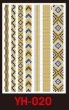 Tatuaże metalic złote srebrne FLASH TATTO YH-020