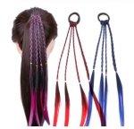 Włosy syntetyczne warkoczyki gumka do włosów