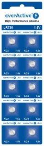 Bateria everActive Alkaline G3 LR736 blister 10szt.