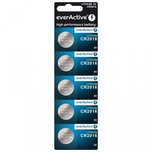 Bateria everActive litowa CR2016 blister 5szt.