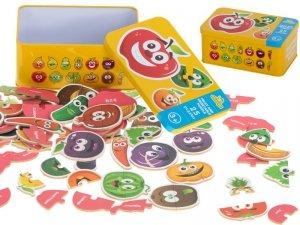 Puzzle w puszce owoce/warzywa 25 puzzli