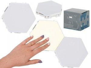 Lampa modułowa LED dotykowa ścienna 3szt ciepły biały