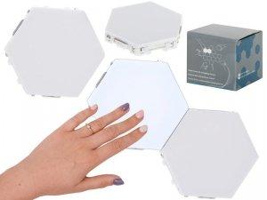 Lampa modułowa LED ścienna 3szt zimny biały