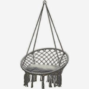 Huśtawka fotel bocianie gniazdo szara XL z poduszką