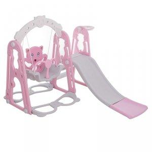 Plac Zabaw dla dzieci 3w1 różowy