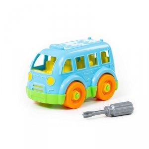 WADER 78995 Klocki Mały autobus + śrubokręt 15el.