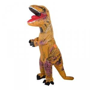 Kostium strój dmuchany dinozaur T-REX dla dzieci Gigant brązowy 1.2-1.4m