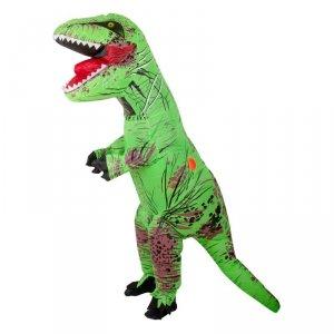 Kostium strój dmuchany dinozaur T-REX dla dzieci Gigant zielony 1.2-1.4m