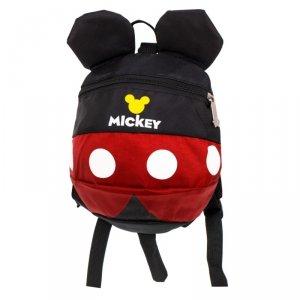 Plecak przedszkolaka z uszami myszka 28cm czerwony