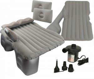 Materac dmuchany łóżko samochodowe 130x80cm szary