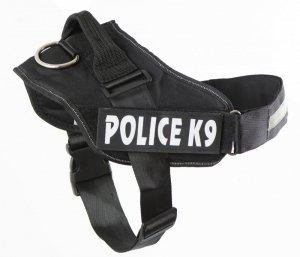 Szelki dla psa mocne S 50-60cm Police K9 czarne