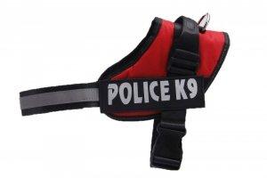 Szelki dla psa mocne M 55-66cm Police K9 odblask