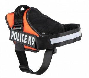 Szelki dla psa mocne M 55-66cm Police K9 pomarańczowe