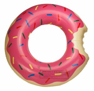 Koło Dmuchane dziecięce Donut 50cm różowe