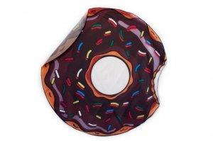 Szybkoschnąca mata plażowa  135cm wzór: brąz donut
