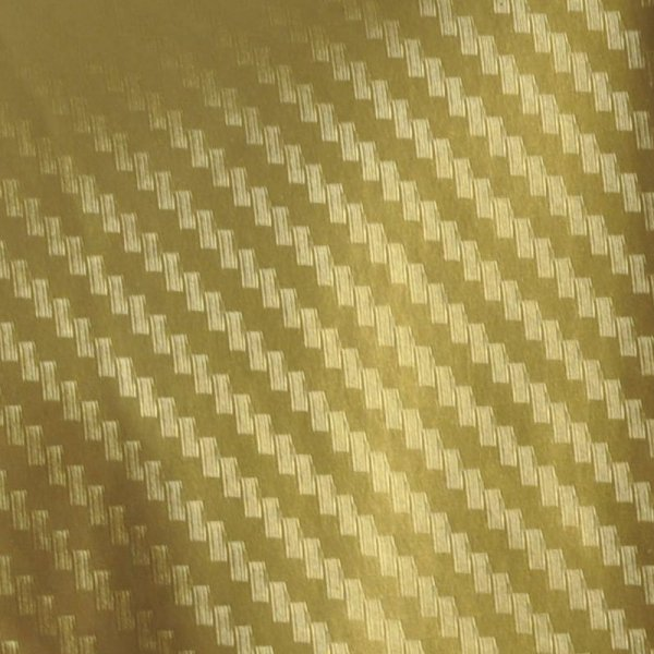Folia rolka carbon 3D złota 1,27x28m