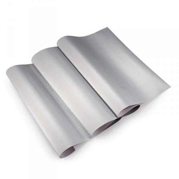 Folia rolka metalic szczotkowana szara1,52x30m