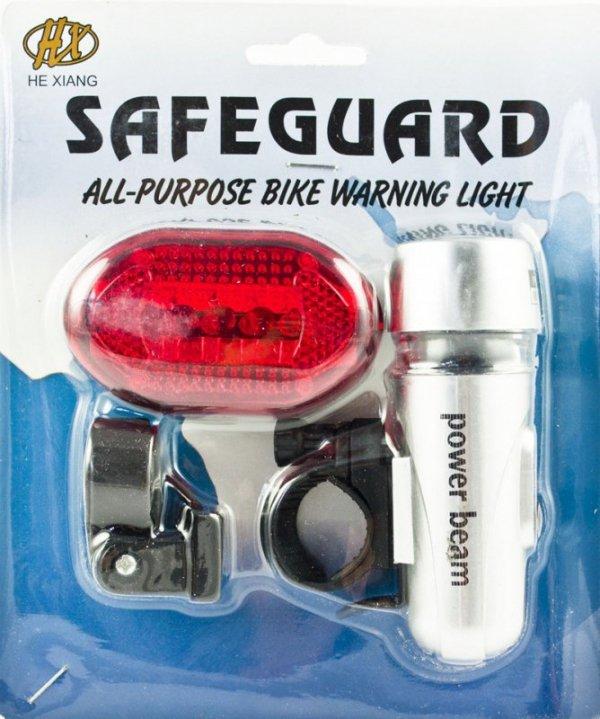 Lampka rowerowa Power Beam zestaw