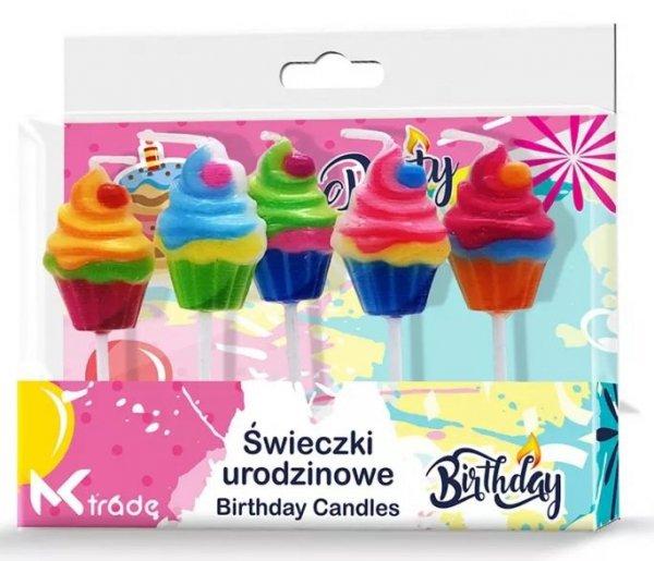 Świeczki urodzinowe kolorowe torciki