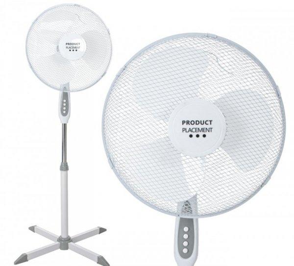 Wentylator stojący wiatrak cichy biały 40cm 55W