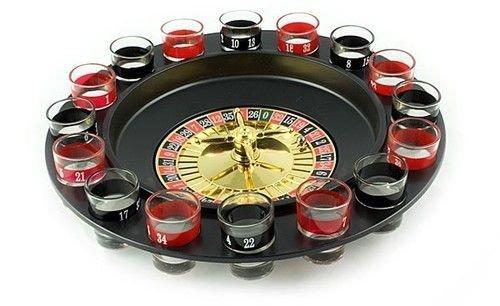 Imprezowa ruletka + 16 kieliszków