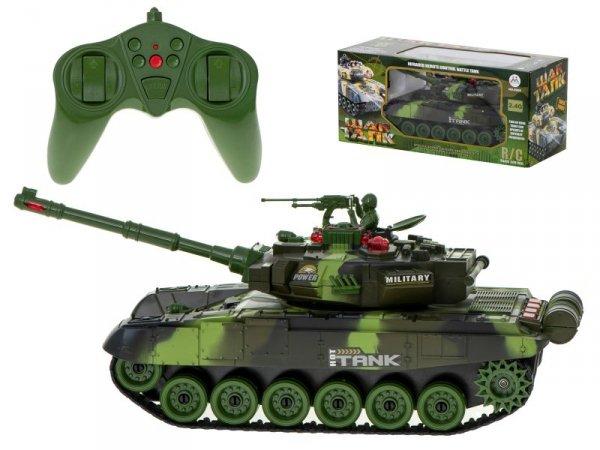 Czołg RC Big War Tank 9995 duży 2.4 GHz zielony