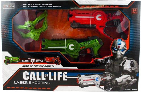 Pistolety na podczerwień zestaw + maski