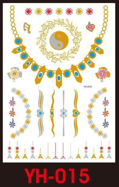 Tatuaże metalic złote srebrne FLASH TATTO YH-033