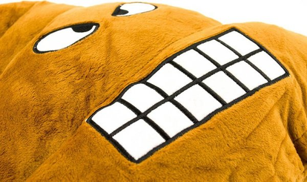 Poduszka Dekoracyjna  Emotki Emoji - poop złość