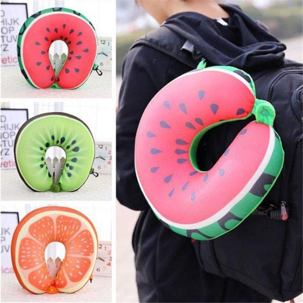 Poduszka podróżna owoce arbuz
