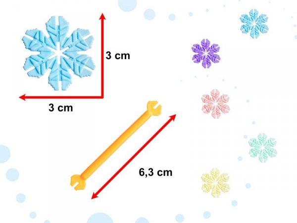 Klocki Przestrzenne Płatki śniegu edukacyjne 240el