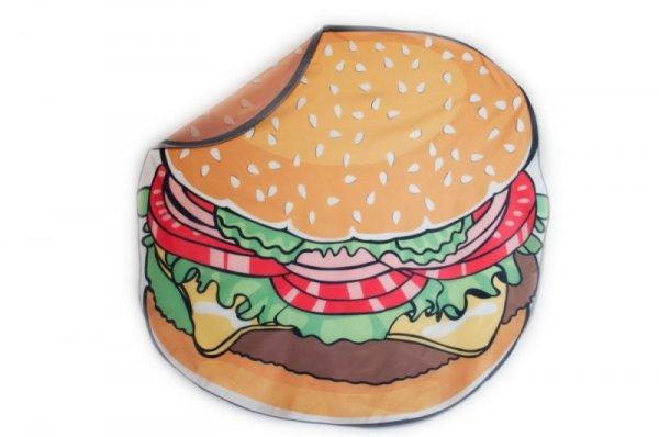 Szybkoschnąca mata plażowa  135cm wzór: burger