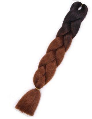 Włosy syntetyczne tęczowe ombre czarno-brązowe