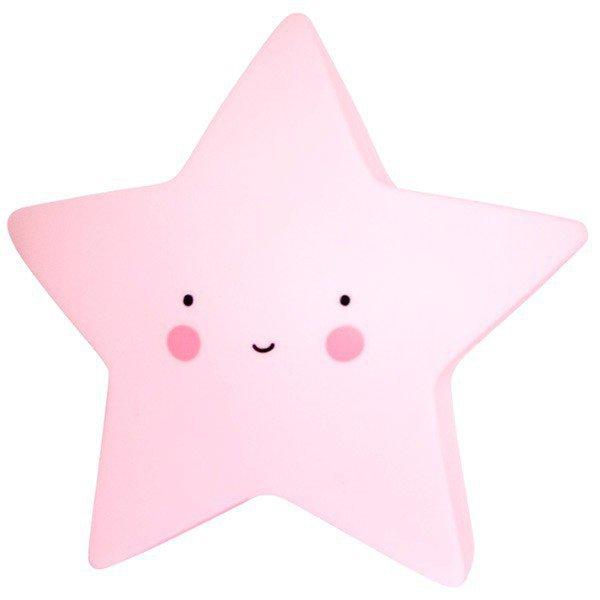 Lampka nocna gwiazda duża różowa CUTE