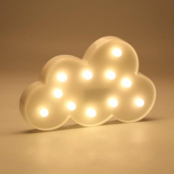 Lampka Dekoracyjna LED Chmurka ciepły biały