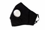 Maska ochronna bawełniana dla dorosłych czarna z 2 filtrami