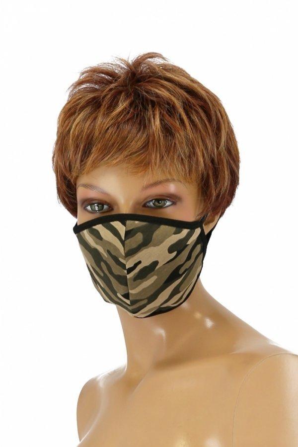 maska przeciwpyłowa wielokrotnego użytku moro